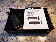 DENON DRA-435R AM-FM Stereo Receiver Radio, schwarz, gebraucht, 150W Verstärker
