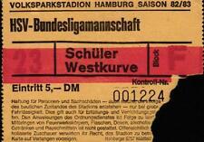 Ticket DFB-trofeo 82/83 Hamburger SV-SV Werder Bremen