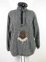 SPORTALM Damen Schlupf Pullover Gr 40 DE / Kariert Winterwarm ( R 2434 )