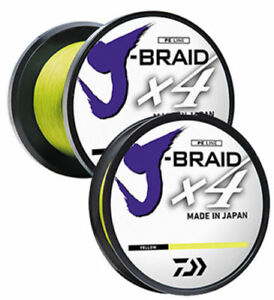 NEW DAIWA J-BRAID X4 BRAIDED LINE Fluorescent Yellow 150 Yards select sizes