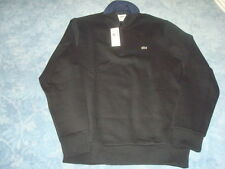 LACOSTE 1/2 ZIPPER BLACK SWEATER WITH SIDE POCKETS LG/6