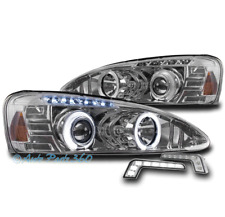 04-08 PONTIAC GRAND PRIX HALO LED PROJECTOR HEADLIGHTS LAMPS CHROME W/BUMPER DRL