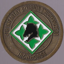 "4th INF DIV  Ironhorse DIV Commander Support  Challenge Coin 1.75"" DIA"