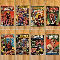 Ka-Zar The Savage Comic Lot (Marvel Comics) 1, 8-10, 12, 17, 21 & 22