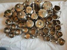 More details for large job lot of old hall stainless steel coffee & tea pots sugar & milk jugs