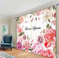 Dream Nice Pink Daisies 3D Curtain Blockout Photo Printing Curtains Drape Fabric