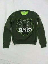 Kenzo Paris Green Graphic Tiger Sweater Size S