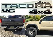 4pc Matte Black Replacement Vinyl Decal Emblems For 2016-2017 Toyota Tacoma New