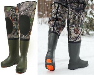Neoprene Fishing Hunting Waders for Men with Boots 100% waterproof 5 mm neoprene