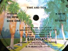 "GREENSLADE - TIME & TIDE LP - 1975 ROCK - 12"" VINYL RECORD"