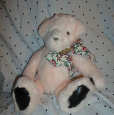 "Gund 1992 Victoria Secret Pink Teddy Bear 15"" Plush Soft Toy Stuffed Animal"