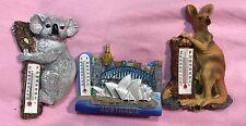 Australia Souvenir 3D Sydney Oprah House Kangaroo & Koala Magnet Thermometer