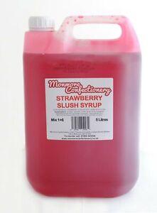 Red Strawberry Slush Puppie Syrup Slushie 5 Litre