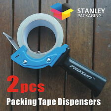 2x Low Noise Packing Tape Dispenser Guns 48mm Roll Sticky Blue