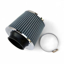 Coche Universal Kit De Inducción Filtro De Aire Filtro Sport Gris Plata Cono de Malla de cromo