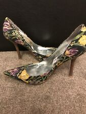 Guess Floral Multi Colour Women Ladies Shoes used Size 6 (39) pre-owned