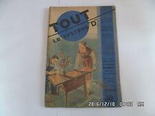 SYSTEME D N°69 09/1951 TABLE A PLATEAU REMONTANT FAUTEUIL PLIANT DE JARDIN   D38