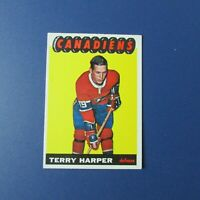 TERRY HARPER  1965-66 Topps  # 68   Montreal Canadiens  1965 1966  65-66   EXMT
