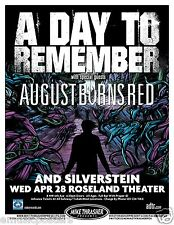 A DAY TO REMEMBER/AUGUST BURNS RED/SILVERSTEIN 2010 PORTLAND CONCERT TOUR POSTER