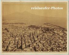 Panorama von Neapel, Original Albumin-Photo, ca 1870