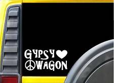 Gypsy Wagon *J734* 8 inch Sticker decal hippie bohemian sticker