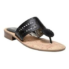 Womens Sam & Libby Tibby Whip Stitch Black Thong Sandals NWOB C165