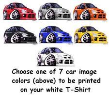 Dodge SRT-4 cartoon car t-shirt 7 different car colors in sizes S-3XL
