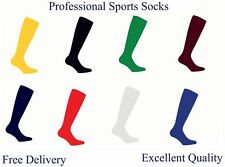 Football Plain Socks Rugby Hockey Soccer Free Delivery Mens Womens Kids UK