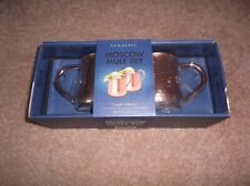 2 Hammered Moscow Mule Mugs 20 oz Copper New by Silver One FREE SHIPPING