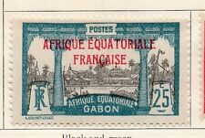 Gabon 1924-27 Early Issue Fine Mint Hinged 25c. Optd 077313