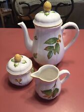 Villeroy & Boch Teapot Creamer Sugar Bowl 'Parkland' 1748 Germany