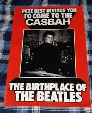BEATLES PETE BEST INVITES YOU CASBAH BIRTHPLACE OF BEATLES SIGNED POSTER!