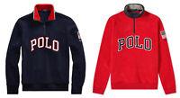 Polo Ralph Lauren American USA Flag Half Zip Fleece Sweatshirt New $148