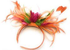 BESPOKE Orange, Fuchsia Pink, Lime Green Fascinator Headband Wedding Ascot Races