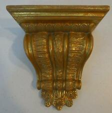 DECORATIVE RESIN WALL SHELF WITH ANTIQUED GOLD FINISH