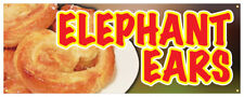Elephant Ears Banner Snack Hot Fresh Concession Stand Sign 36x96