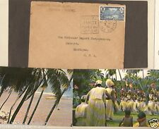 TAHITI FRANCE OCEANIA sc 52  to US 1934 PAPEETE , T A I postcards AIR FRANCE