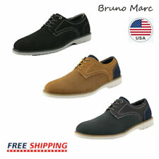 Bruno Marc Mens Suede Leather Wingtip Formal Casual Dress Oxford Shoes