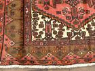 4'x7' Wool Area Rug Handmade Geometric Hamedan Vintage Tribal Oriental