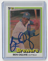 1981 BREWERS Ben Oglivie signed card Donruss #446 AUTO Autographed Milwaukee