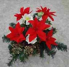künstliche pflanzen  blumen Grabgesteck  Advend 20cm rot