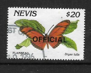 NEVIS 1993 $20 BUTTERFLY Dryas Julia OFFICIAL STAMP Fine Used (No 3)