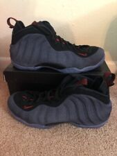 85024fbc0c Nike Air Foamposite One Denim Mens 314996-404 Obsidian Black Red Shoes Size  10.5