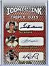 Ted Williams Carl Yastrzemski David Ortiz Iconic Ink Triple Cuts Red Sox