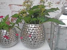 Búcaro de Silva 16 cm - Florero hecho de cerámica, decoración en Plata COLORES