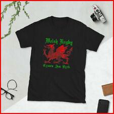 Welsh Dragon Rugby Shirt Wales Football Top  Vintage Cymru T-Shirt