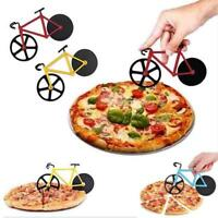 Bike Pizza Cutter Road Bicycle Chopper Slicer Kitchen Tools Stainless Steel q2w