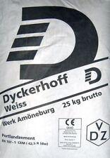 GP.0,72?/Kg)  25Kg DYCKERHOFF Weisszement Zement Weißzement Cement CEM I 42,5 R