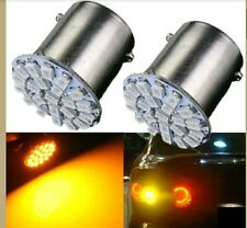 2 x 22-SMD LED Car And Bike Amber Tail Light Indicator Brake Light Bulb Lamp....