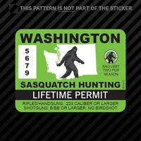 Washington Sasquatch Hunting Permit Sticker Vinyl Bigfoot 13igfo0T WA